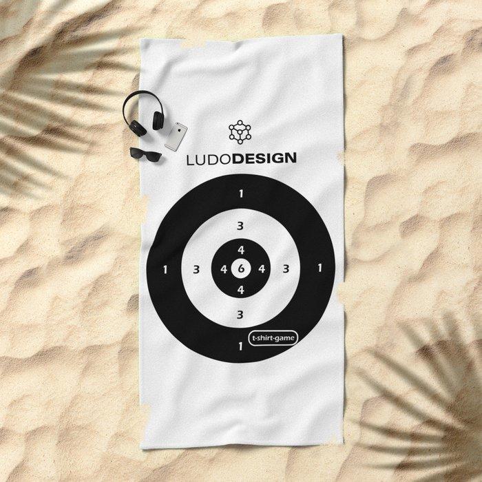 T-shirt game Beach Towel